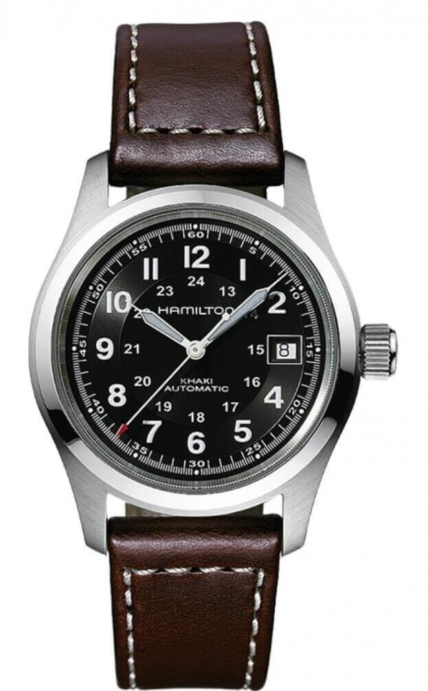 HAMILTON Khaki Field Auto 38mm Μαύρο Καντράν Ανδρικό Ρολόι