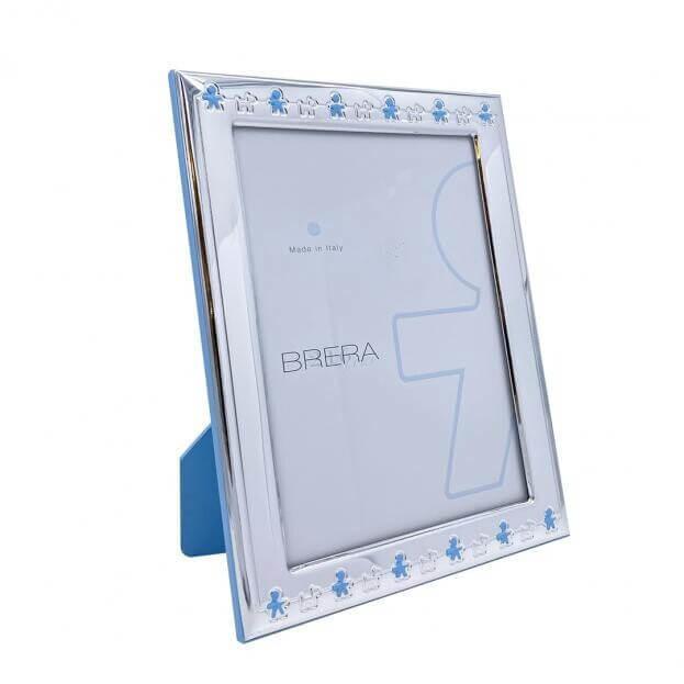 Ασημένια Κορνίζα Παιδικό σχέδιο σε γαλάζιο χρώμα με παιδάκια BRERA ITALY 13Χ18 2030MC