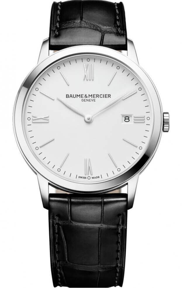 BAUME et MERCIER CLASSIMA 42mm Λευκό Καντράν Ανδρικό Ρολόι