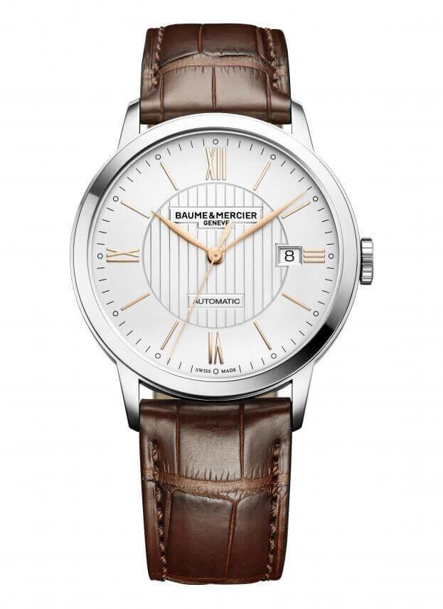 BAUME et MERCIER CLASSIMA Automatic 40mm Λευκό Καντράν Ανδρικό Ρολόι