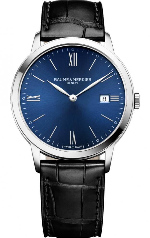 BAUME et MERCIER Classima Quartz 40mm Μπλε Καντράν Ανδρικό Ρολόι