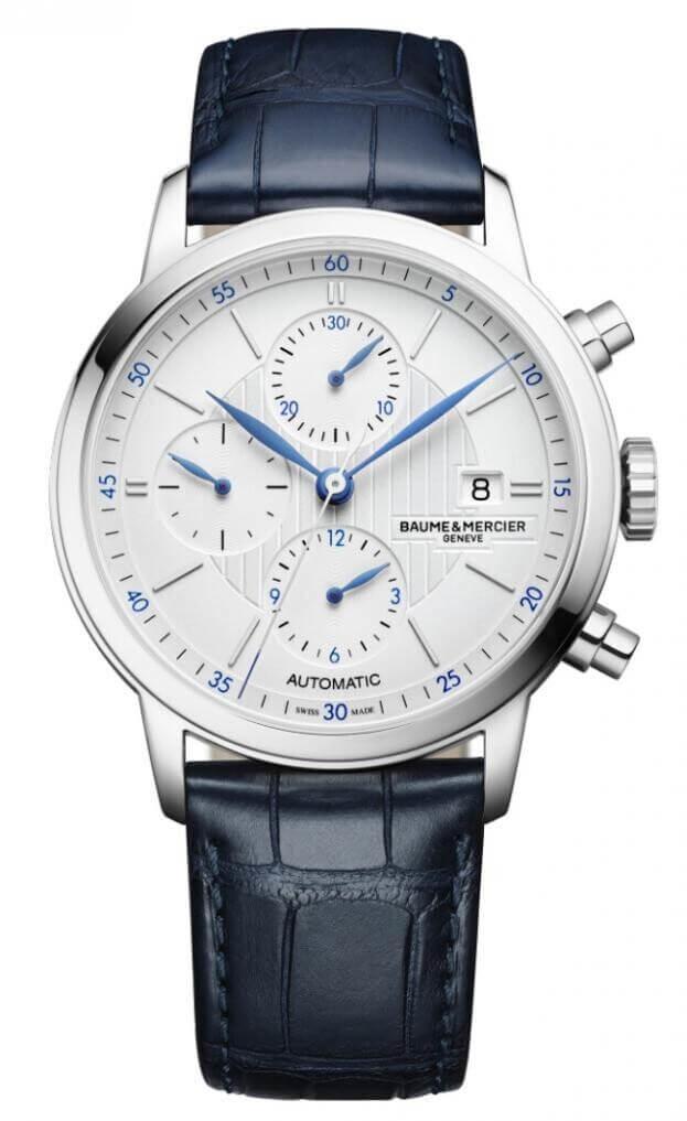 BAUME et MERCIER Classima Automatic Chronograph 42mm Ασημί Καντράν Ανδρικό Ρολόι