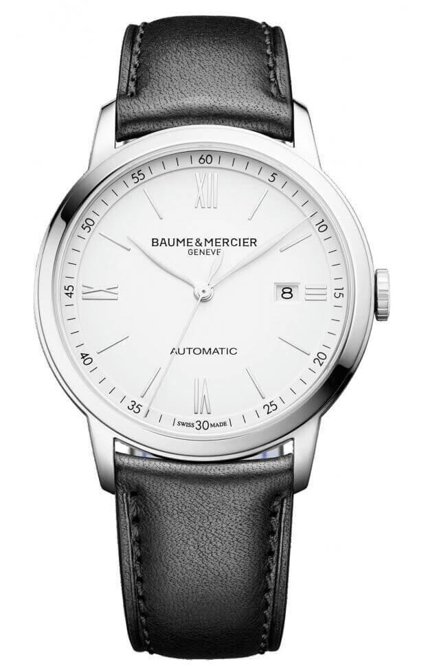 BAUME et MERCIER Classima Automatic 42mm Λευκό Καντράν Ανδρικό Ρολόι