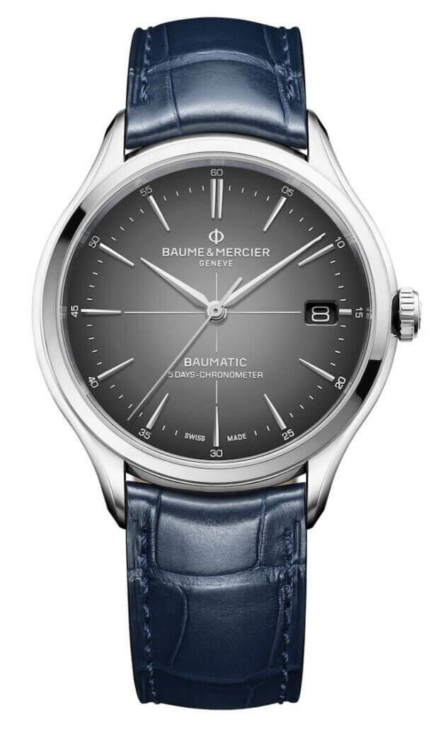 BAUME et MERCIER Clifton Baumatic Automatic  40mm Γκρι Καντράν Ανδρικό Ρολόι