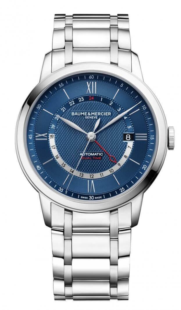 BAUME et MERCIER Classima Automatic Dual Time 42mm Μπλε Καντράν Ανδρικό Ρολόι