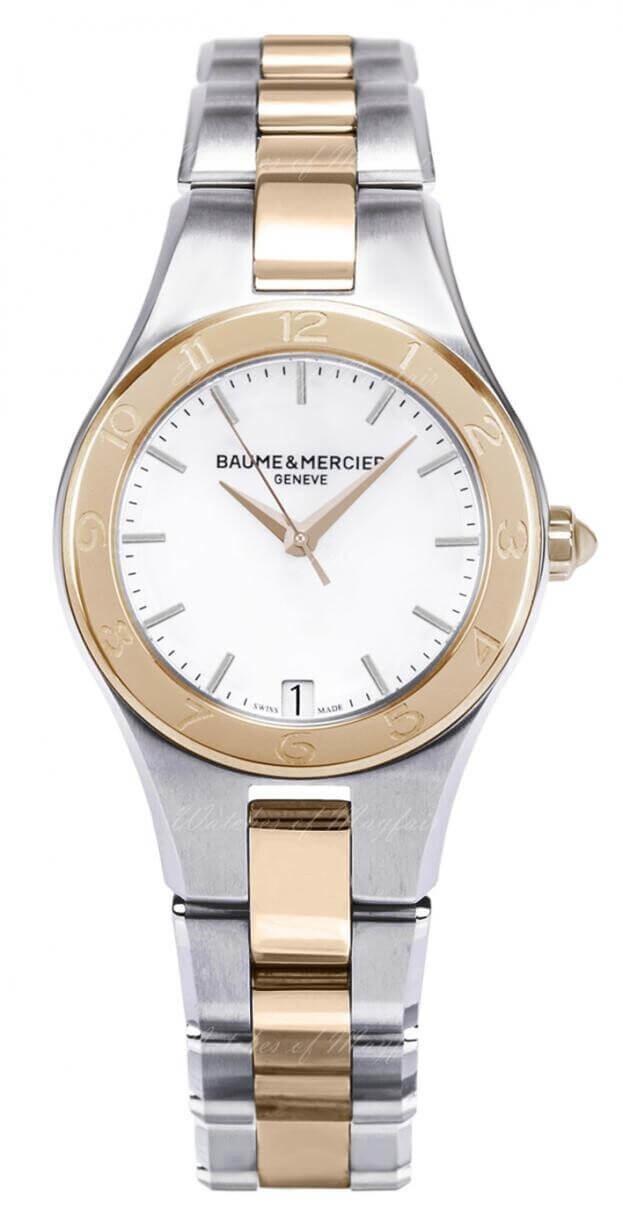 BAUME et MERCIER Linea Quartz  27mm Ασημί Καντράν Γυναικείο Ρολόι