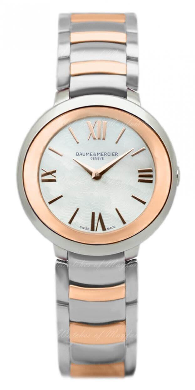 BAUME et MERCIER Promesse Quartz 30mm Ασημί Καντράν Γυναικείο Ρολόι