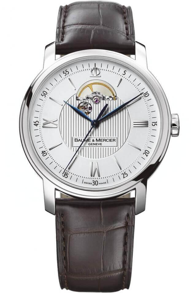 BAUME et MERCIER CLASSIMA OPEN BALANCE 42mm Ασημί Καντράν Ανδρικό Ρολόι