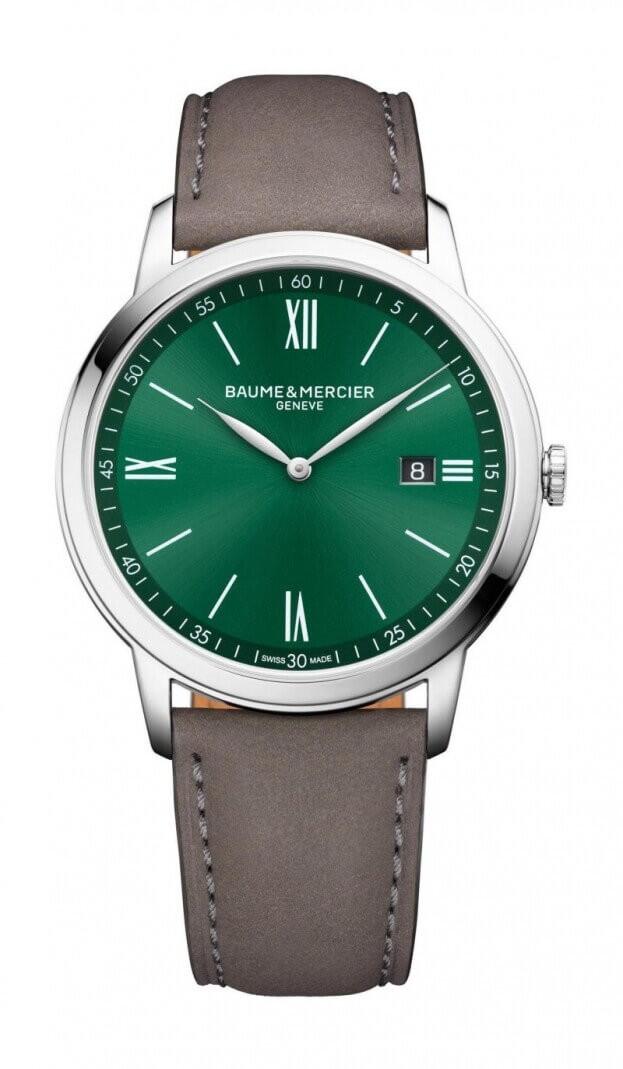 BAUME et MERCIER Classima Quartz 42mm Green Dial Mens Watch