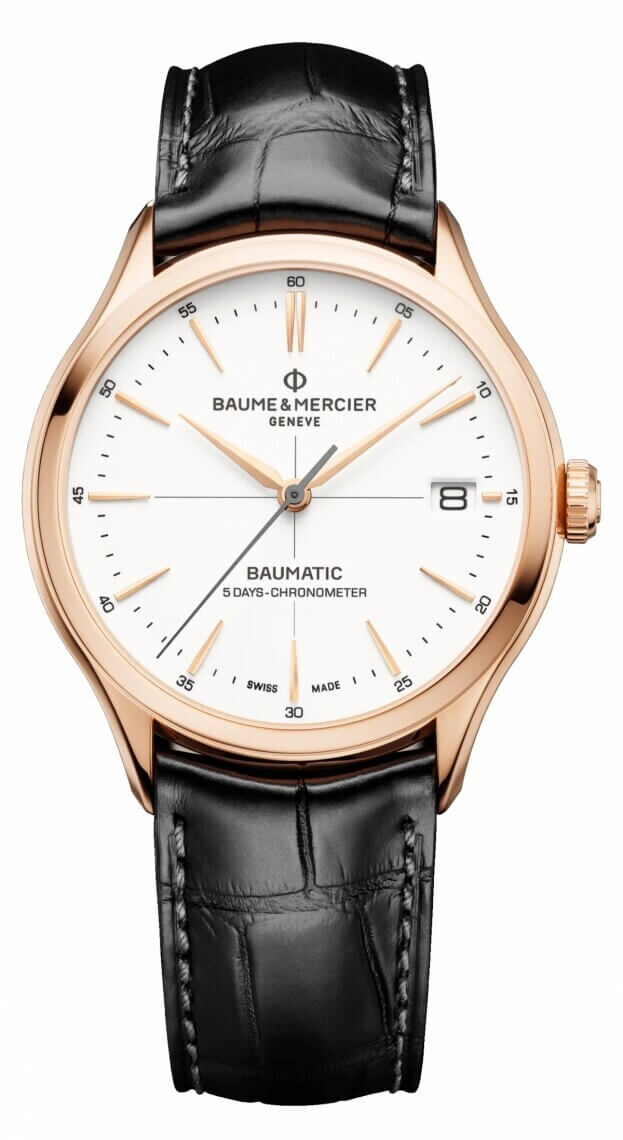 BAUME et MERCIER Clifton Baumatic 39mm White Dial Mens Watch
