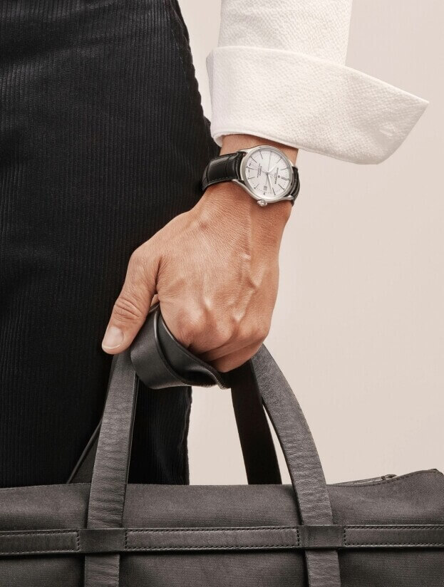 BAUME et MERCIER Clifton Baumatic 40mm Λευκό Καντράν Ανδρικό Ρολόι