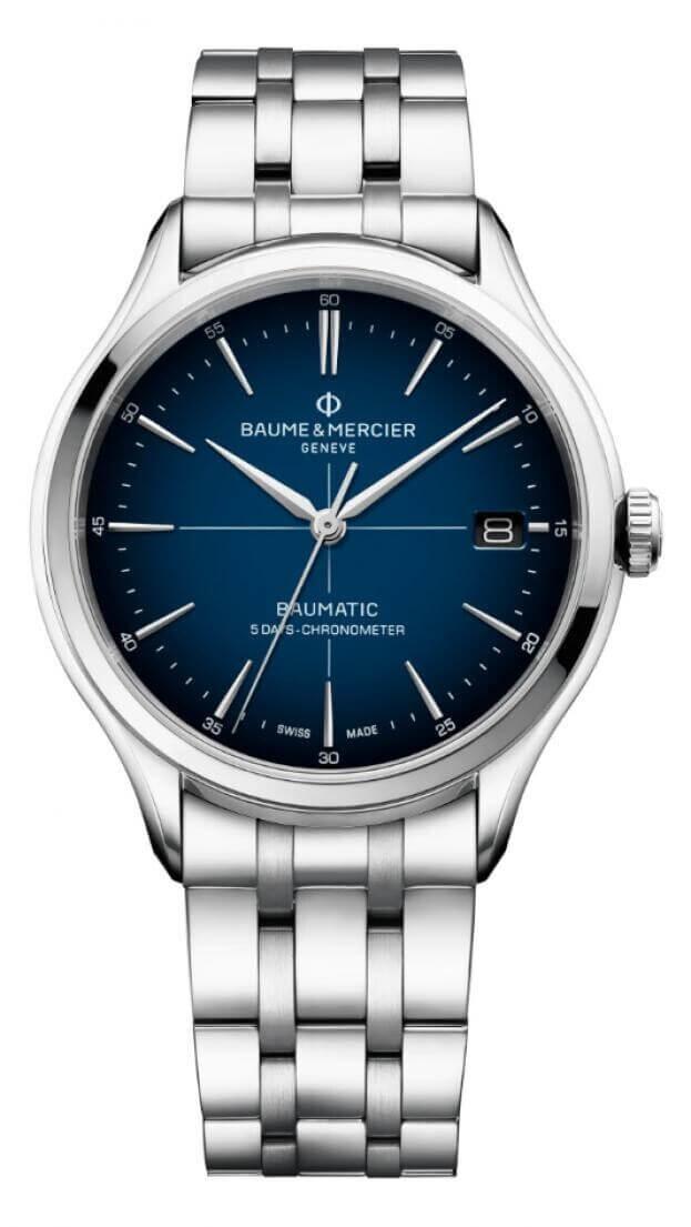 BAUME et MERCIER Clifton Baumatic Automatic 40mm Blue Dial Mens Watch