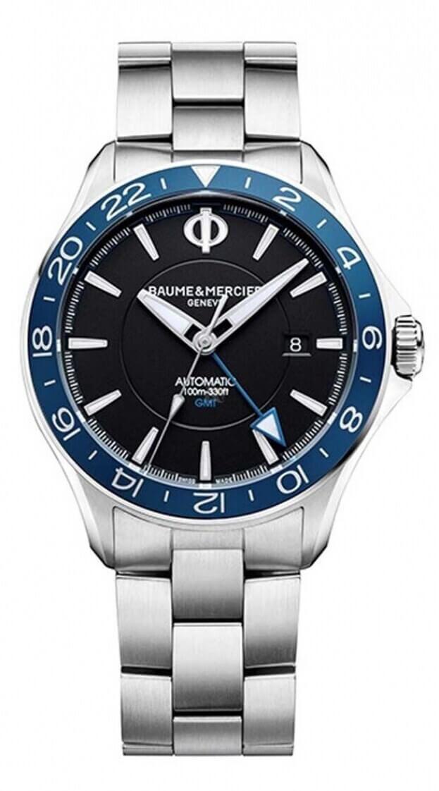 BAUME et MERCIER Clifton Club Automatic GMT 42mm Black Dial Mens Watch