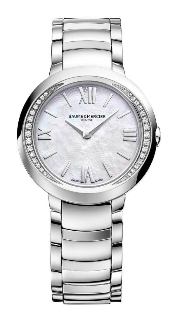 BAUME et MERCIER Promesse Diamond-set Quartz 30mm Mother-of-Pearl Καντράν Γυναικείο Ρολόι