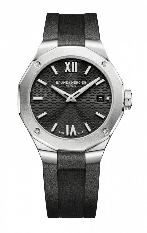 BAUME et MERCIER Riviera Quartz 36mm Black Dial Diamond set Ladies Watch