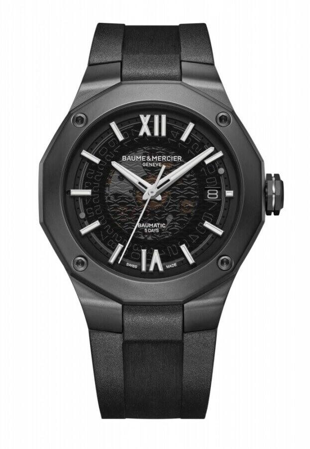 BAUME et MERCIER Riviera Automatic 42mm Black Dial Mens Watch