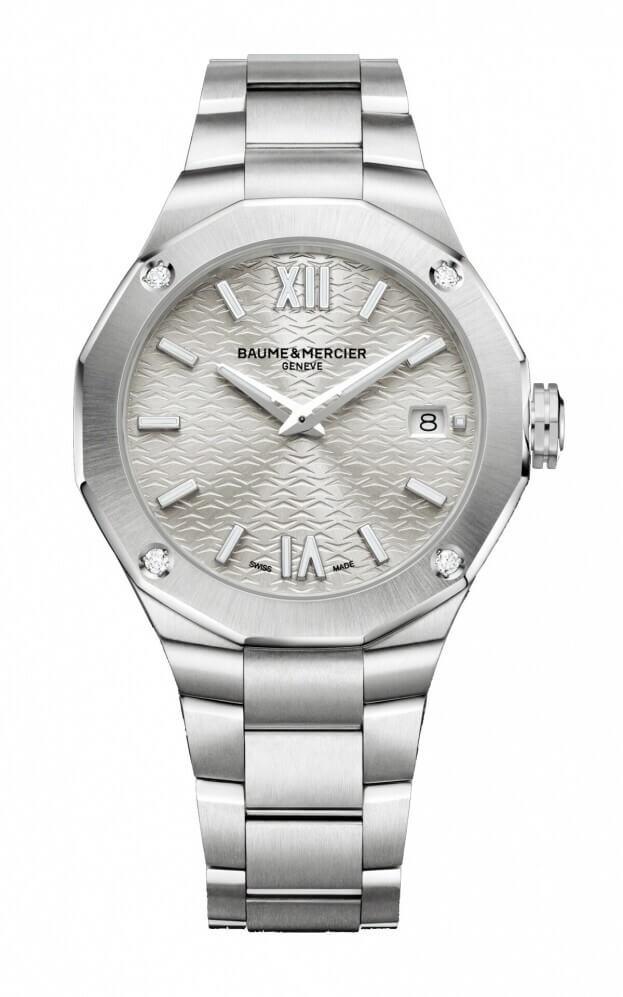 BAUME et MERCIER Riviera Quartz 36mm Silver Dial Diamond set Ladies Watch