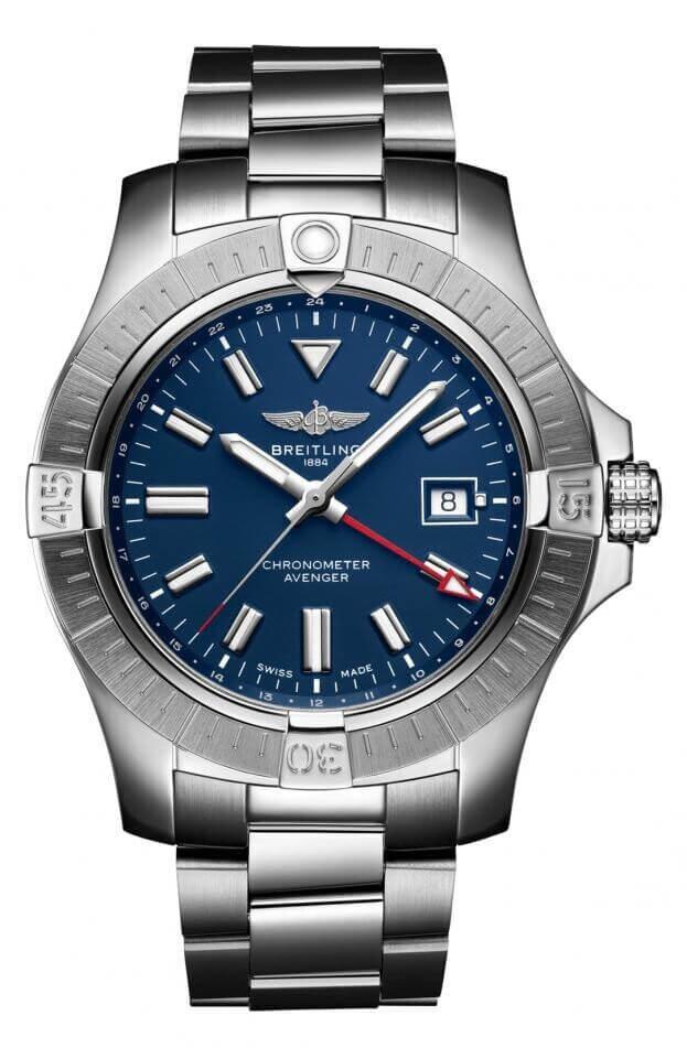 BREITLING Avenger Automatic GMT 45mm Μπλε Καντράν Ανδρικό Ρολόι