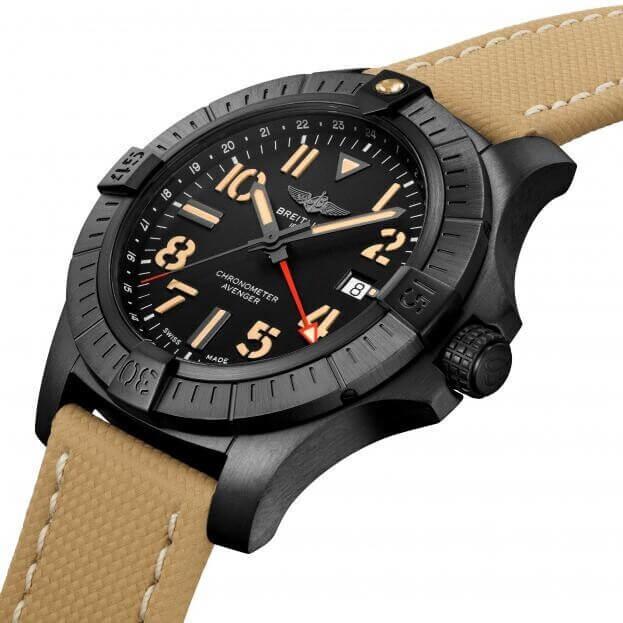 BREITLING Avenger Automatic GMT Night Mission 45mm Μαύρο Καντράν Ανδρικό Ρολόι