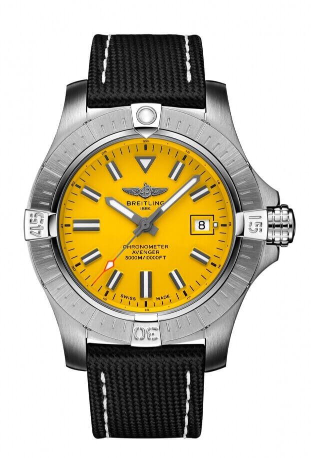 BREITLING Avenger Automatic Seawolf  45mm Κίτρινο Καντράν Ανδρικό Ρολόι