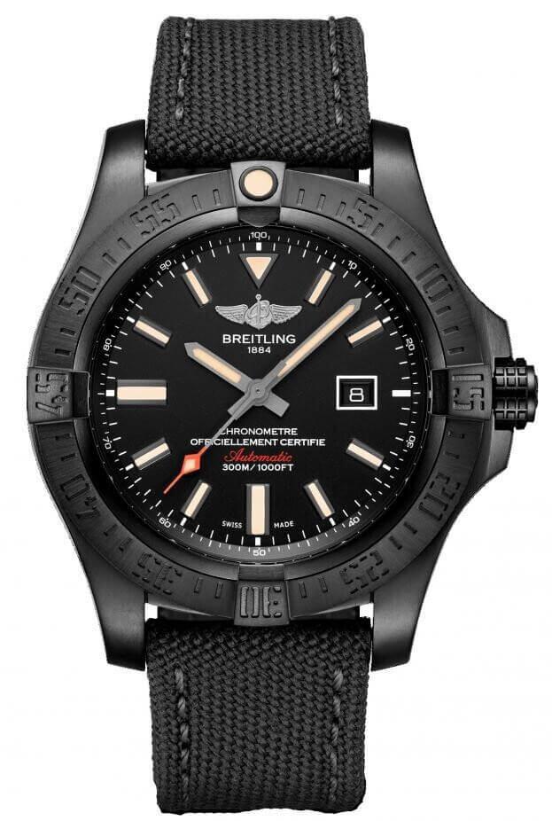 BREITLING Avenger Blackbird 48mm Μαύρο Καντράν Ανδρικό Ρολόι