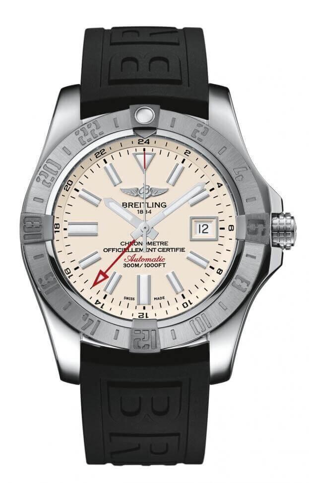 BREITLING Avenger II GMT Automatic 43mm Ασημί Καντράν Ανδρικό Ρολόι