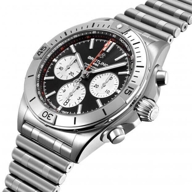 BREITLING Chronomat B01 Chronograph Automatic 42mm Μαύρο Καντράν Ανδρικό Ρολόι