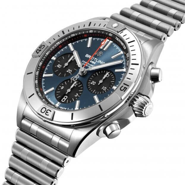 BREITLING Chronomat B01 Chronograph Automatic 42mm Μπλε Καντράν Ανδρικό Ρολόι