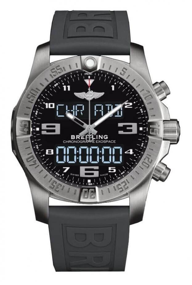 BREITLING Exospace B55 connected chronograph Super Quartz 46mm Μαύρο Καντράν Ανδρικό Ρολόι