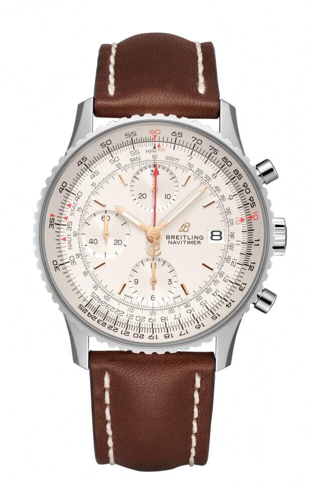 BREITLING Navitimer Chronograph 41mm Ασημί Καντράν Ανδρικό Ρολόι