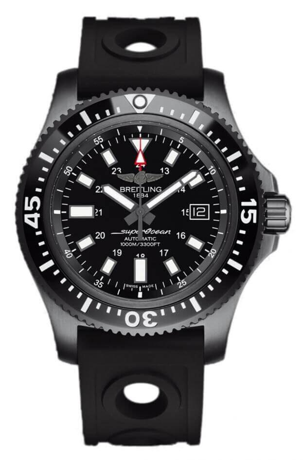 BREITLING Superocean Automatic 44mm Μαύρο Καντράν Ανδρικό Ρολόι SPECIAL
