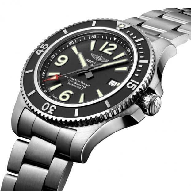 BREITLING Superocean Automatic 44mm Μαύρο Καντράν Ανδρικό Ρολόι