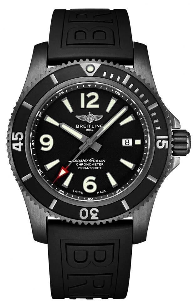 BREITLING Superocean Automatic 46mm Μαύρο Καντράν Ανδρικό Ρολόι