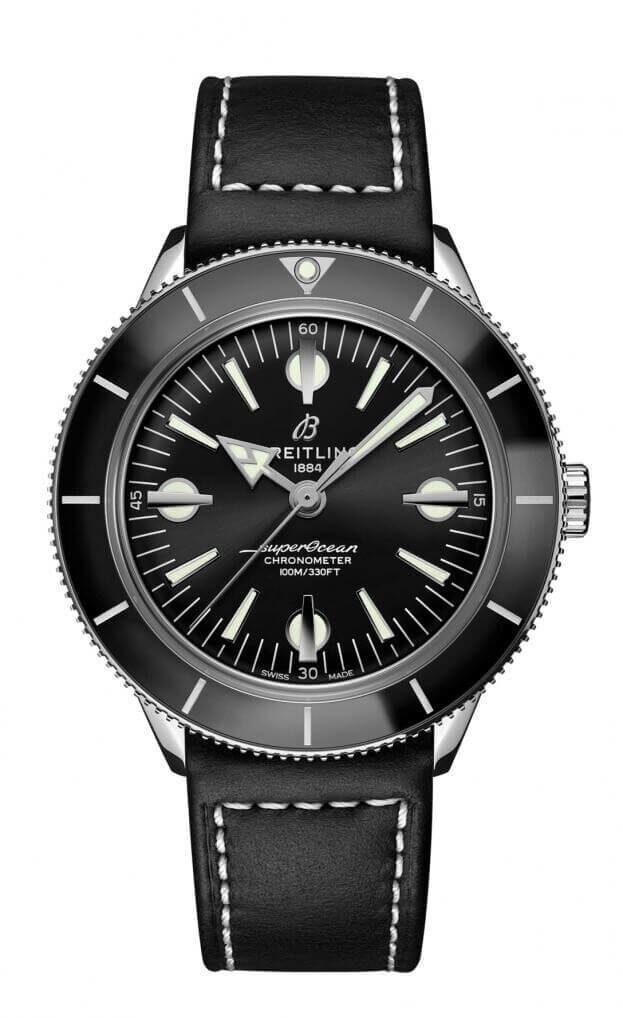 BREITLING Superocean Heritage 57 Automatic 42mm Μαύρο Καντράν Ανδρικό Ρολόι