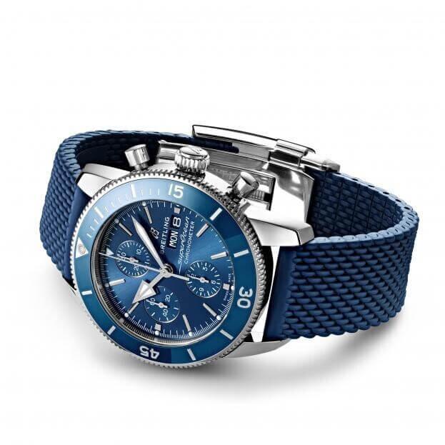 BREITLING Superocean Heritage Automatic Chronograph 44mm Μπλε Καντράν Ανδρικό Ρολόι