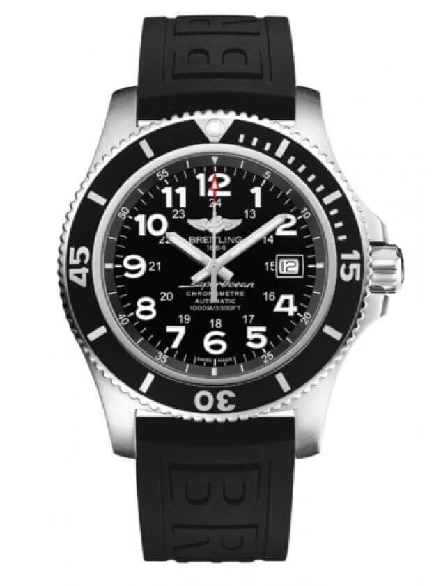 BREITLING Superocean II Automatic 44mm Μαύρο Καντράν Ανδρικό Ρολόι