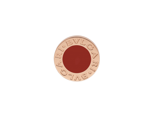 BVLGARI Σκουλαρίκια Bvlgari Bvlgari Collection Ροζ Χρυσό Κ18 & Κόκκινο λίθο Carnelian