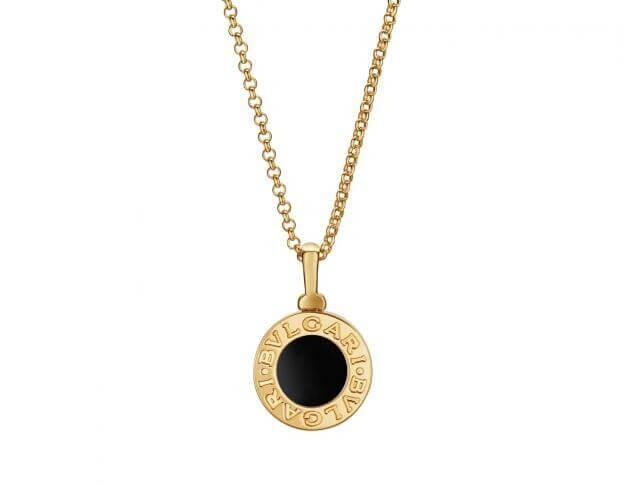 BVLGARI Κολιέ Bvlgari Bvlgari Collection Κίτρινο Χρυσό Κ18 & Μαύρο λίθο Onyx