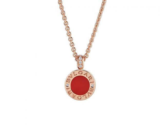 BVLGARI Κολιέ Bvlgari Bvlgari Collection Ροζ Χρυσό Κ18 & Κόκκινο λίθο Carnelian/White Mother-of-Pearl