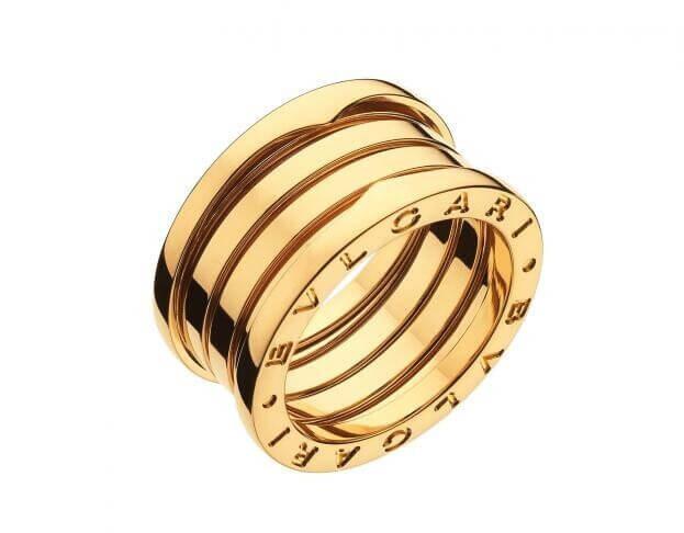 BVLGARI 4-band Δαχτυλίδι B.ZERO1 Collection Κίτρινος Χρυσός Κ18