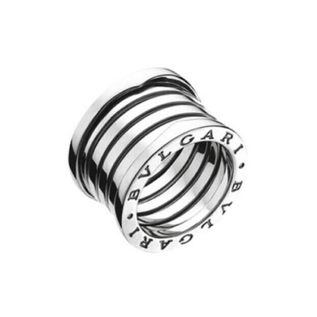BVLGARI 5-band Δαχτυλίδι B.ZERO1 Collection Λευκός Χρυσός Κ18