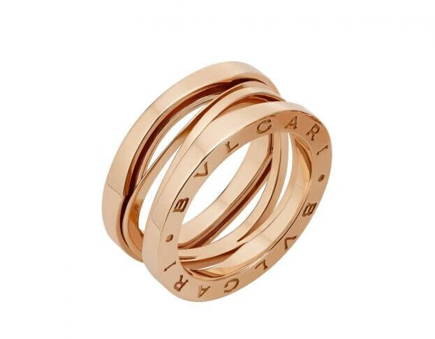 BVLGARI Δαχτυλίδι B.ZERO1 Collection Design Legend Ροζ Χρυσός Κ18