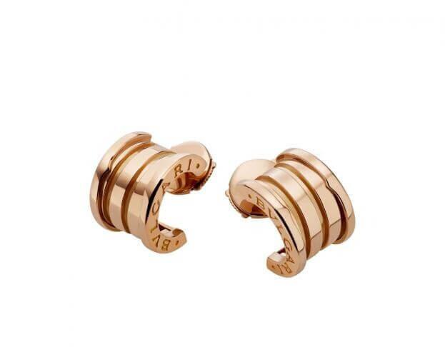 BVLGARI Collection B.ZERO1 Σκουλαρίκια Ροζ χρυσό Κ18