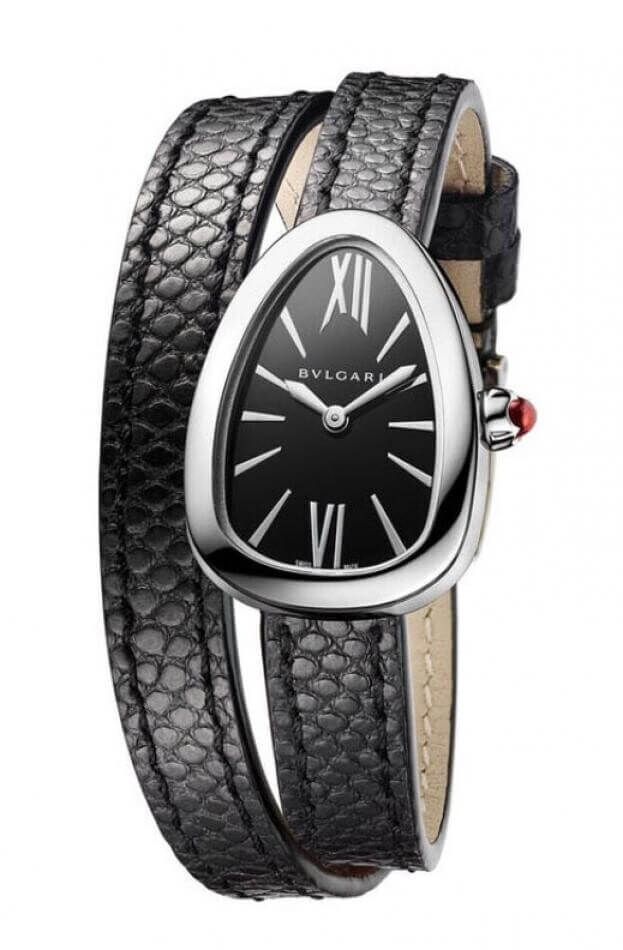 BVLGARI Serpenti Quartz 27mm Μαύρο Καντράν Γυναικείο Ρολόι