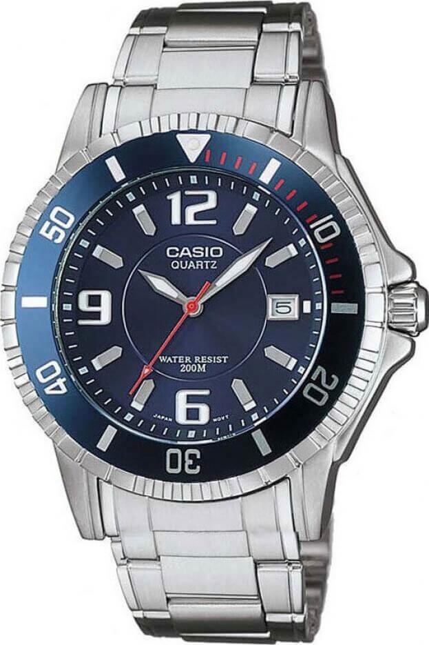 CASIO SPORTS TIMER BLUE DIAL BRACELET