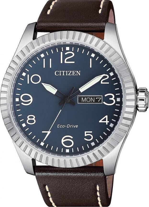 CITIZEN CASUAL ECO DRIVE 42mm Μπλε Καντράν Ανδρικό Ρολόι