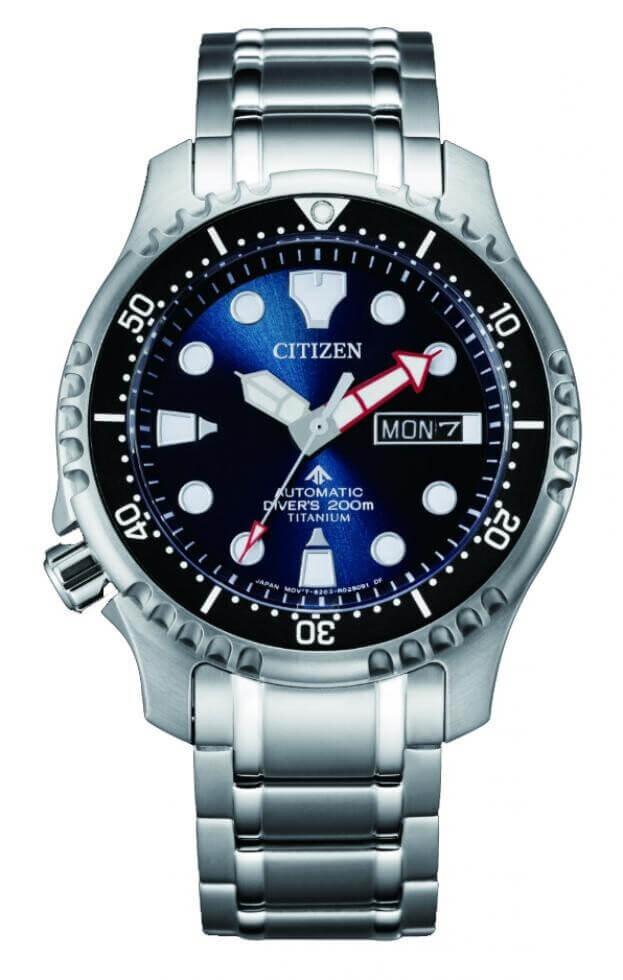 CITIZEN Promaster Automatic Divers Super Titanium 42mm Μπλε Καντράν Ανδρικό Ρολόι