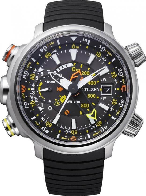 CITIZEN Promaster Land Eco-Drive Super Titanium 49.5mm Black Dial Mens Watch