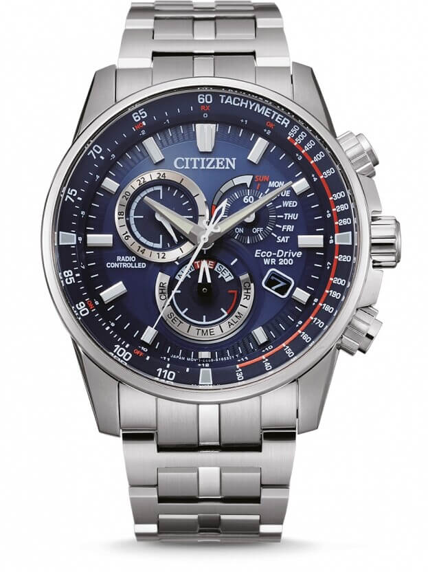 CITIZEN Radio Controlled Eco-Drive 42.5mm Blue Dial