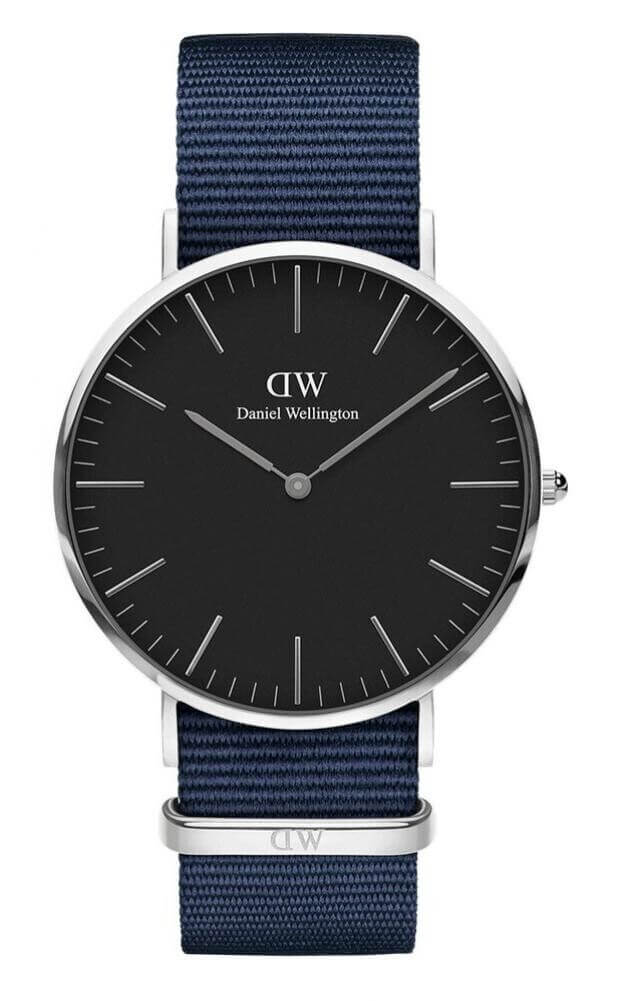 DANIEL WELLINGTON CLASSIC BLACK BAYSWATER SILVER 40MM 00100278DW